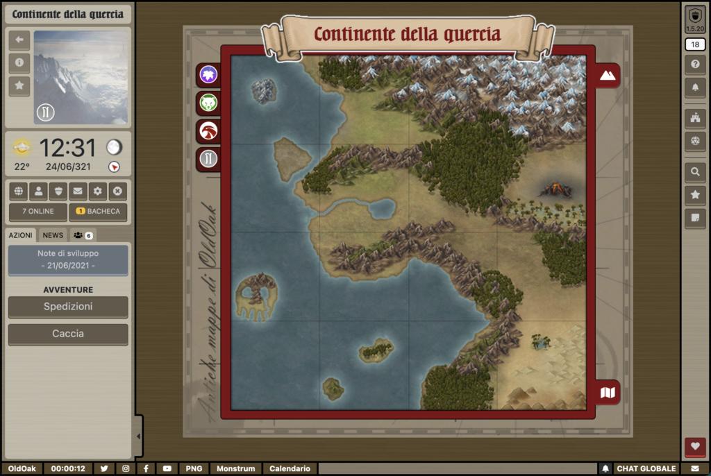 OldOak - Mappa principale